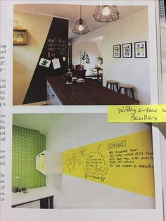 Writing surface in scullery and/or mudroom