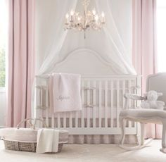 Crib choices: 1 of 3. RH baby&child's Sloane Conversion Crib:Notched arches and plank-style panels give Sloane its colonial sensibility.