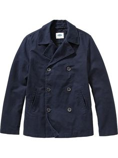 Men's Canvas Peacoats Product Image