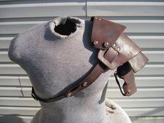 Sentinel segmented leather shoulder armor