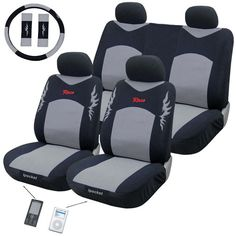 Race Grey 11-piece Automotive Seat Cover (11-piece)