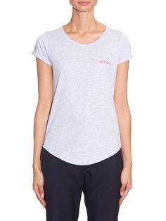 Amour-embroidered cotton-jersey T-shirt | Maison Labiche | MATCHESFASHION.COM UK