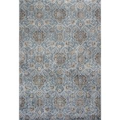 Features:  -Material: 100% Viscose (faux silk).  -Machine-made.  -Pattern: Allover kashan.  Primary Color: -Slate blue.  Product Type: -Area Rug.  Material Details: -100% Viscose. Dimensions: Rug Size