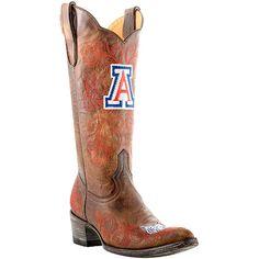 Gameday Arizona Wildcats Ladies Cowboy Boots - Brown