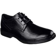 Skechers Men's Malling Black - Skechers ($85) ❤ liked on Polyvore featuring men's fashion, men's shoes, black, skechers mens shoes, mens shoes, mens black oxford shoes, mens oxford shoes and mens black shoes