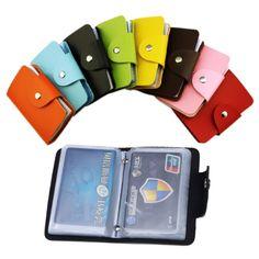 24Bit 2 seitige Kreditkarteninhaber wasserdichte kunststoff karten-sets Multicolor visitenkarte pack Bus kartenbeutel frauen geldbörse männer brieftasche