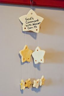 The Mama: Genesis 15 - Gods Covenant with Abram - and Homemade Salt Dough Stars! - Use cardstock and foil to make stars instead of salt dough Bible Story Crafts, Bible Crafts For Kids, Bible Lessons For Kids, Vbs Crafts, Church Crafts, Preschool Crafts, Bible Stories, Abraham Bible Crafts, Preschool Bible