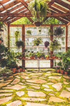 Backyard Greenhouse, Greenhouse Plans, Dream Garden, Home And Garden, Garden Living, Design Jardin, Farm Life, Garden Projects, Garden Inspiration