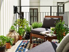 via the diversion project. Patio/deck/balcony styling inspiration.