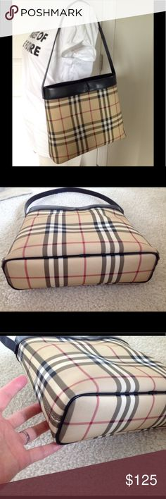 Authentic Burberry nova check shoulder bag 100% Authentic Burberry nova check classic tote handbag in great condition  Gently used  No rips or flaws , only a small smadge on bottom of corner, pls check last pic ,as is  Sold as is ! Overall great condition  Size appro 11L'/ 9' H /3'W. Straps drop 10'  No dust bag !  Thanks Burberry Bags Shoulder Bags