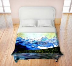 Duvet Cover Brushed Twill Twin, Queen, King from DiaNoche Designs by Corina Bakke Home Decor and Bedding Ideas - Colorado Mountains