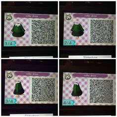 Green collar dress