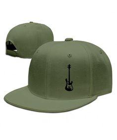 9bb970860 Custom Unisex Adjustable Cool Bass Guitar Snapback Flat Baseball Cap One  Size ForestGreen CU12MYG2YOX