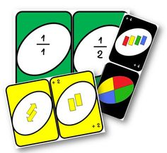 Uno des fractions - La classe de Mallory Plus Fun Math Games, Math Activities, Study Schedule, Montessori Math, Cycle 3, Math Fractions, Comparing Fractions, Multiplication, Arithmetic