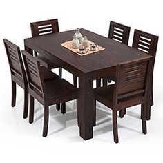 ea8375a06e04 6 Seater Wooden Dining Sets  Buy 6 Seater Wooden Dining Sets Online in India