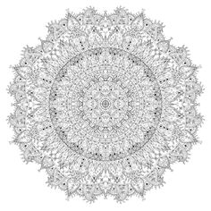Drawn as a 'slice' with a 0.1mm Sigma Micron pen and then copy/pasted into a circle in Photoshop. You can download the full-size mandala on the right to print and colour yourself. If you like my ar...