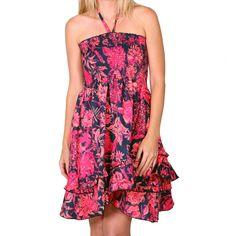 Resistol Women's Strapless Summer Floral Dress