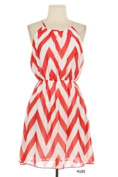 Awesome 3 COLORS Chevron Zig Zag Stripe Sleeveless Tank Open Back Keyhole Blouson Dress Something I would wear. B) Check more at http://fashionie.top/pin/40570/