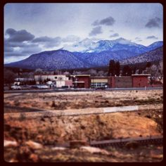 Daily Gratitude 2/6/14 #walktowork #sidewalks #mountains #clouds #sky #flagstaff