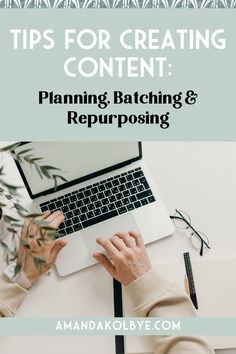 Learning how to batch content for your online business is key for any social media strategy. These content creation tips will help you with batching social media content, repurposing content and come up with content creation ideas for your content calendar. Steal my content planner and best tips for batching content today! #socialmediatips #contentideas #contentcreation