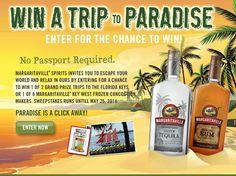 "Margaritaville Spirits ""No Passport Required"" Sweepstakes"