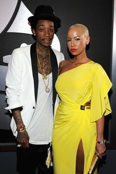 Amber Rose in Versace at the #Grammys