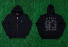 AMERICAN VARSITY  Classic Varsity Attitude 83 Hoodie Jacket   available online store  http://www.avarsityshop.com  #AMERICANVARSITY  #AmericanCasual #Collegiate #Fashion #Brand #EastCoast #Philadelphia #NewYork  #MadeinUSA