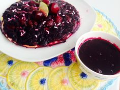 cherries and blueberries fresh fruits special Tart 5