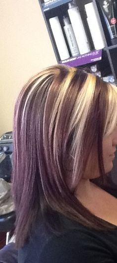 Chunky highlights! Color by Amber Crouse Michelle's Salon & Day Spa