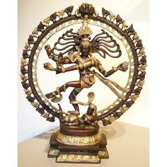 Dansende Shiva brons. Groot formaat.