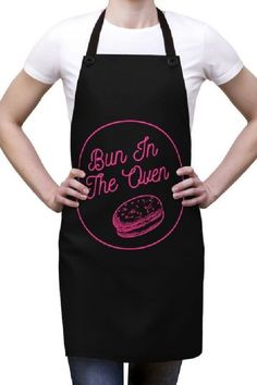 Make your pregnancy announcement fun with a photo of you in the kitchen placing a bun in the oven whilst wearing this awesome apron. Its a great prop that speaks for itself!  See more party ideas and share yours at CatchMyparty.com #catchmyparty #partyideas #pregnant #pregnancyannouncements #digitalpregnancyannouncements