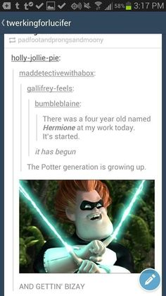 """This person who makes you proud to be part of the Potter generation. 