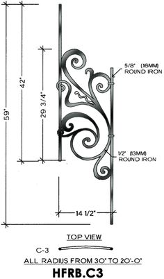 Cheap Stair Parts - Rebecca C3 - 40-52 Angled