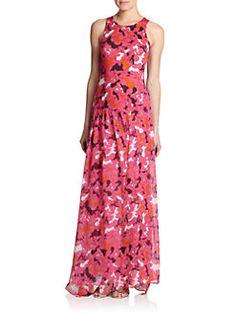 Diane von Furstenberg - Davina Silk Jersey & Chiffon Maxi Dress