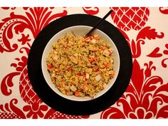 Land and sea couscous salad