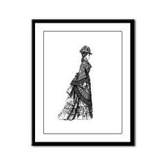 Vintage Antique Victorian Bustle Dress Woman Illus> Vintage Antique Victorian Bustle Dress Woman Illus> Pattern Designs