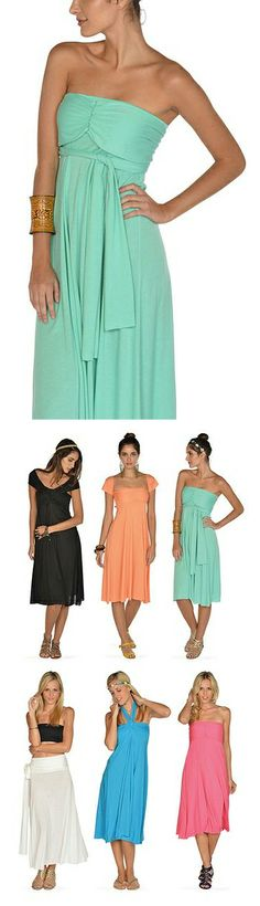 Convertible Dresses / Skirts - perfect for #vacation, as it can be worn so many ways!