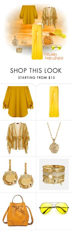 """Golden Sunshine"" by pixelstyle1010 on Polyvore featuring TIBI, Love Moschino, Missoni Mare, 2028, Plukka, Avenue and 3.1 Phillip Lim"