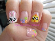 Easter Bunny/Chick Nails