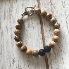 Items similar to Picture Jasper Aromatherapy Diffuser Bracelet on Etsy Metal Beads, Stone Beads, Diffuser Jewelry, Jasper Stone, Perfume Oils, Handmade Bracelets, Gemstone Jewelry, Essential Oils, Gemstones