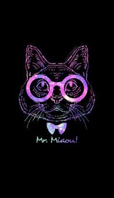 Mr Miaow kitty galaxy wallpaper I created for the app CocoPPa! #CocoPPa #tribal