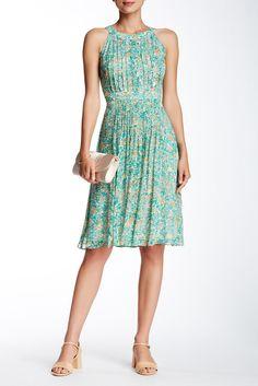 Chiffon Print Fit & Flare Dress