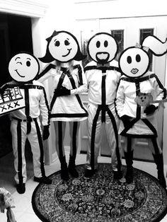 Strichmännchen Kostüm selber machen | Kostüm Idee zu Karneval, Halloween & Fasching