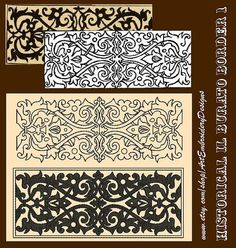 Historical Il Burato Border 1 - Embroidery Designs Set for hoop 5x7 from embroidery book Il Burato by Paganini, Alessandro, printed in Venezia, 1527 www.cs.arizona.edu/patterns/weaving/books/pap_lace.pdf - digitized by Liuba Tabunidze.  It will be perfect for historical costumes.