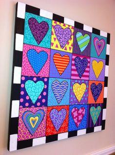 Anna Rita's 371 media content and analytics - AmigurumiHouse Op Art, Valentines Art, Art Courses, Arte Pop, Collaborative Art, Elements Of Art, Painted Paper, Heart Art, Diy Wall Art