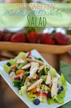 Strawberry PoppySeed Chicken Salad { Copycat Panera } |