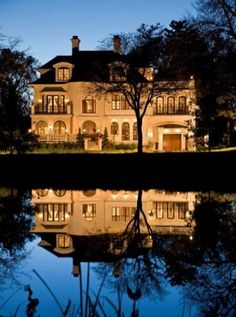 Landscape lighting works wonderfully with all natural elements. Reflect on how it can work in your landscape design - pin it!