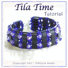 *P Beaded Bracelet Tutorial / Pattern: Tila Time - wide cuff style bracelet  - PDF. $9.00, via Etsy.