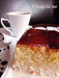 Tri leće by Kuvaj za me (bez maslaca, sa grizom) My Recipes, Sweet Recipes, Cake Recipes, Recipies, Dessert Recipes, Cooking Recipes, Desserts, Recept Za Trilece, Tri Lece