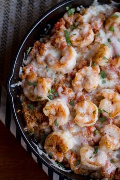 Cajun Shrimp and Quinoa Casserole tastes like comfort food without so many calories! Shrimp Recipes, Fish Recipes, Steak Recipes, Recipies, Shrimp Casserole, Casserole Dishes, Broccoli Casserole, Bean Casserole, Breakfast Casserole